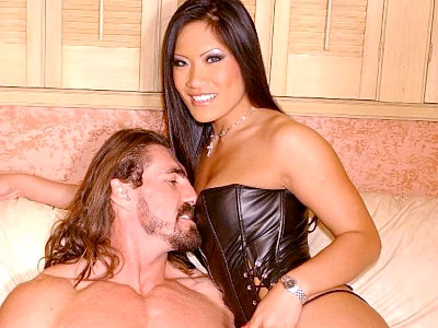 Christina Aguchi is a sexy Asian hottie with a big appetite for cock slobbering. Here she gets paired with a well hung stud and welcomes him with a blowjob before she gets pussy crammed and treated with a nasty cum facial from her partners meaty stick.